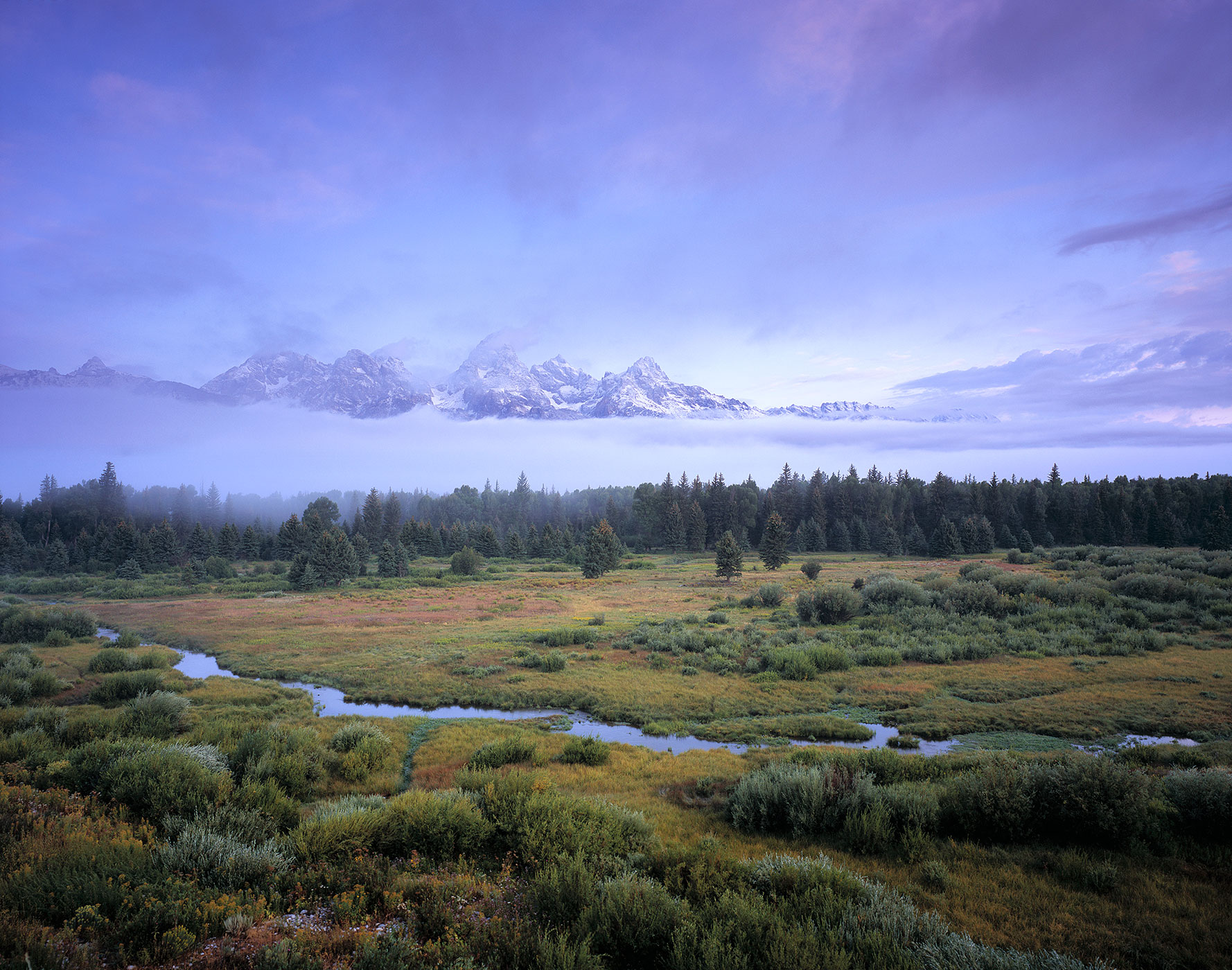 1001 Tetons & Morning Mist, Grand Teton National Park, Wyoming