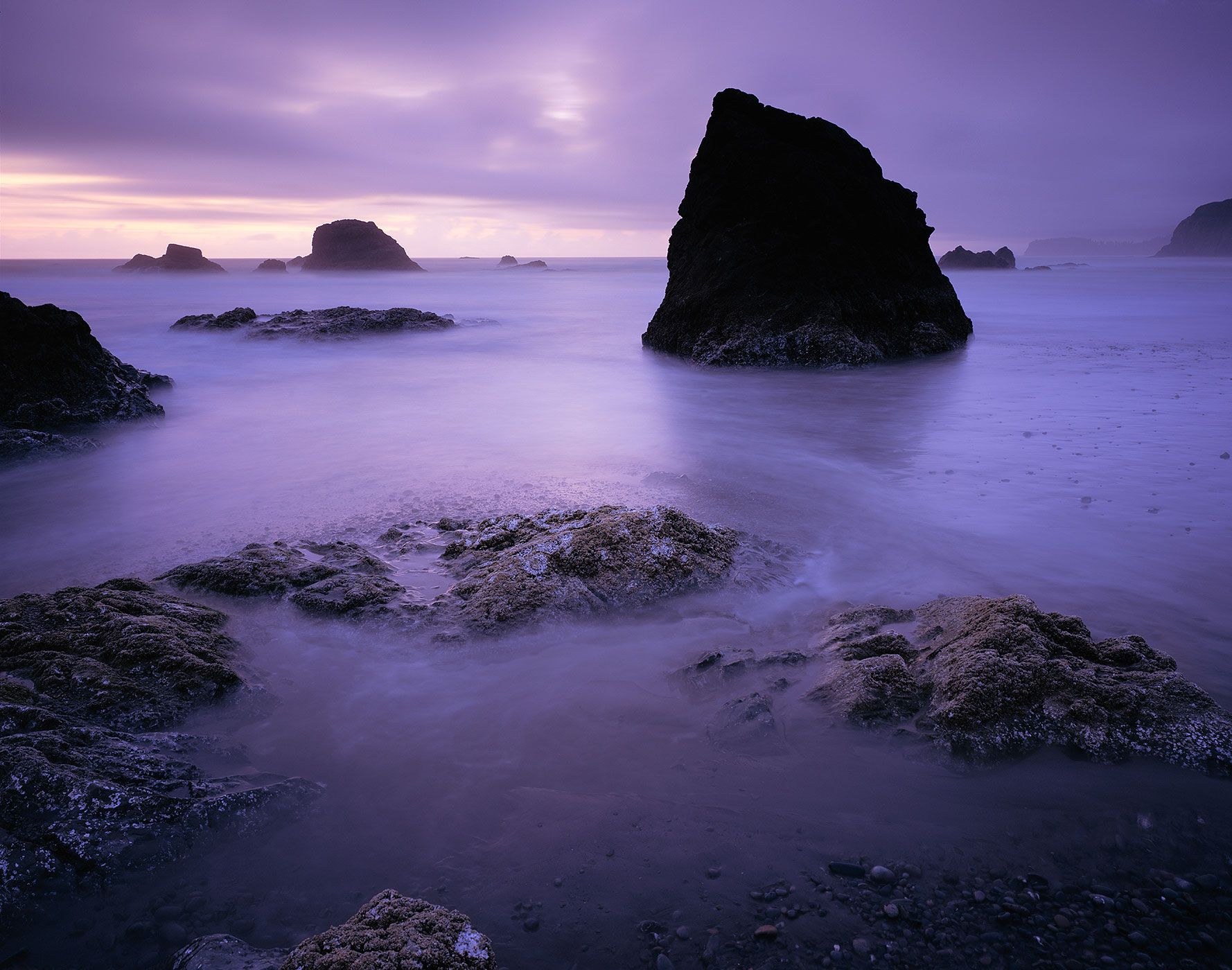 1018 Sea Stacks at Twilight, Olympic National Park, Washington