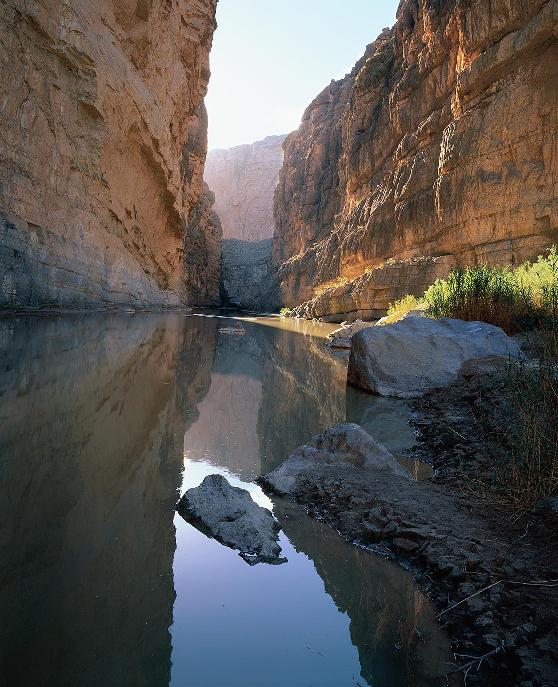 204 Reflections in the Rio Grande, Big Bend National Park, Texas