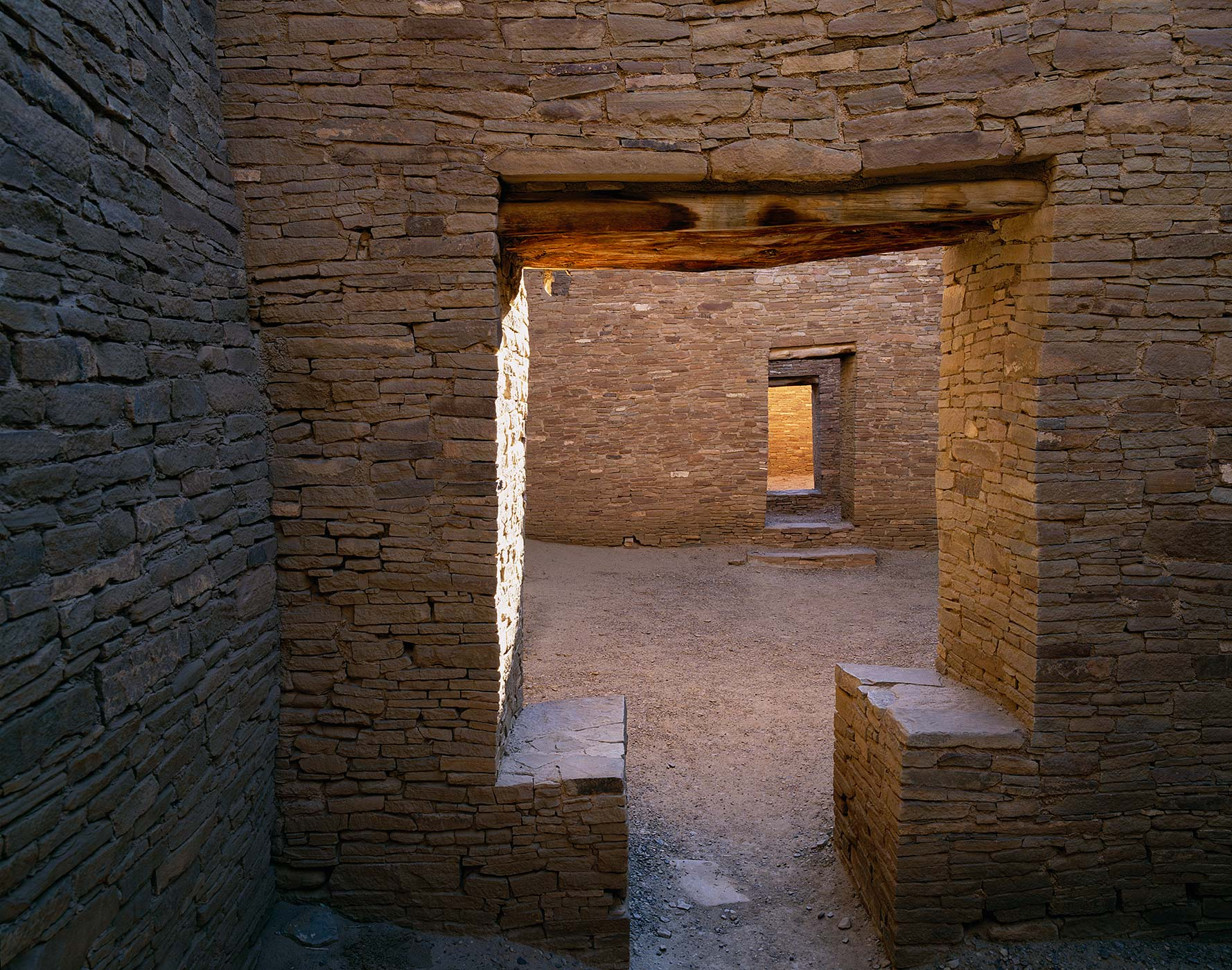 507 Pueblo Bonito Doorways, Chaco Culture National Park, New Mexico