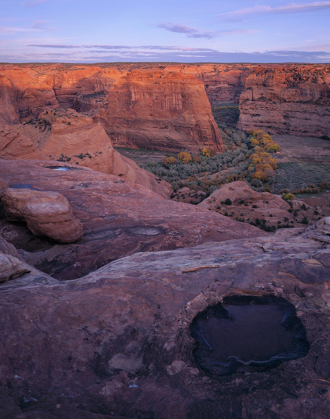 515 Water above the Canyon, Canyon de Chelly National Monument, Arizona