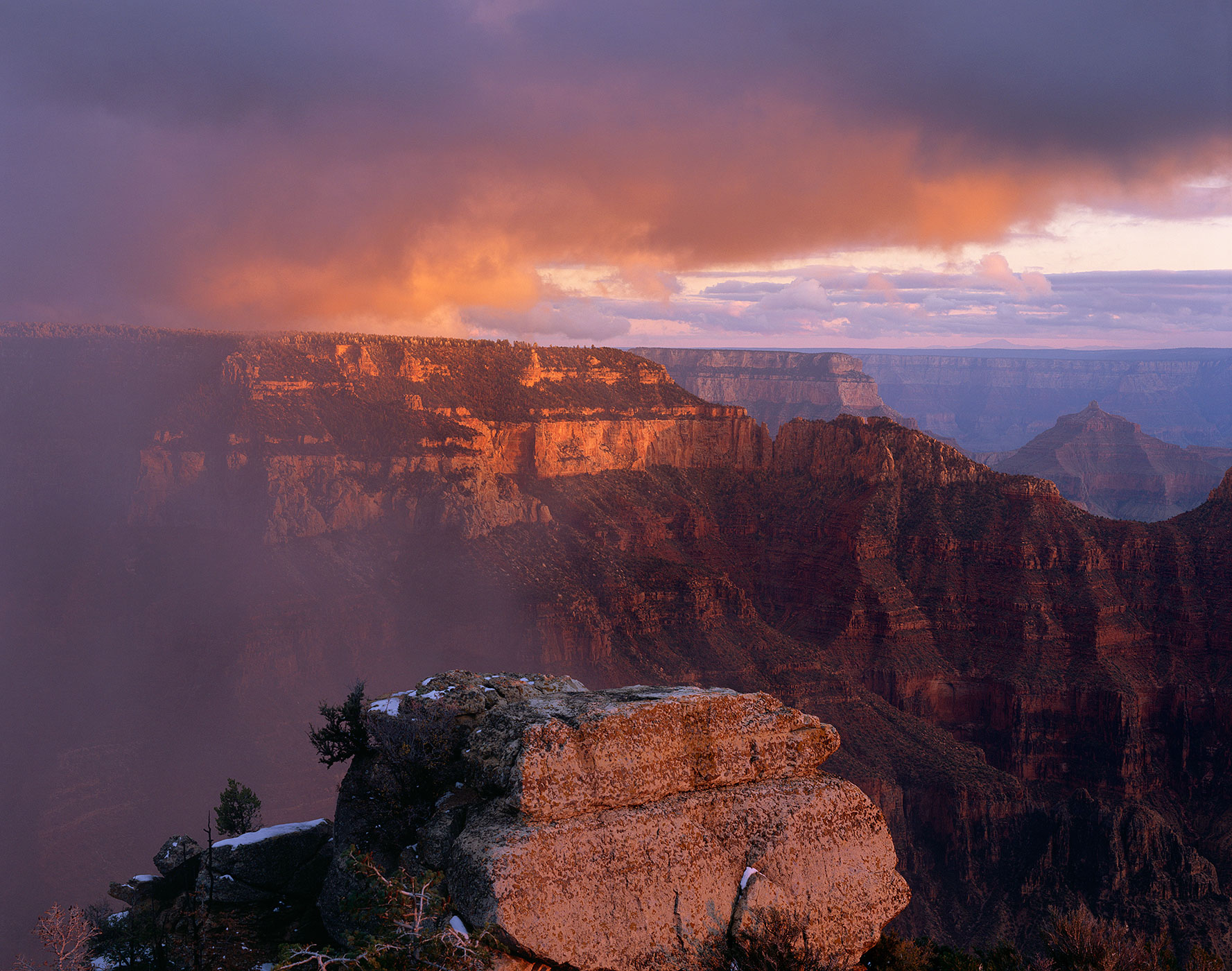 820 Storm Over Bright Angel, Grand Canyon National Park, Arizona