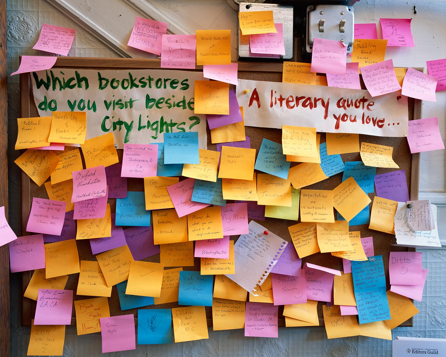 Bulletin Board, City Lights Bookstore