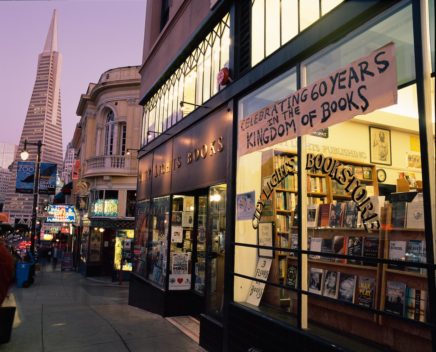 Celebrating 60 Years, City Lights Bookstore, San Francisco