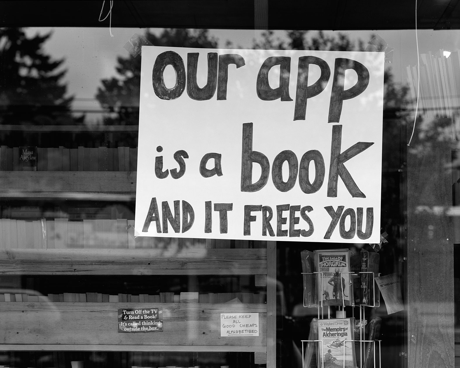 Our App is a Book, Brian, Tsunami Books, Eugene, Oregon